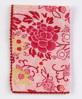 Pink & Cream Napkin - Set of Four