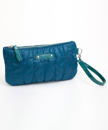 Peacock Blue Clutch