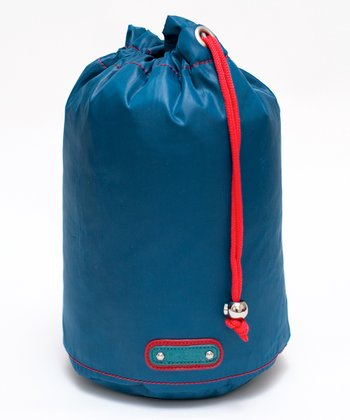Peacock Blue Drawstring Grab Bag