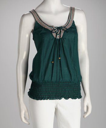 Green & Red Scoop Neck Tank
