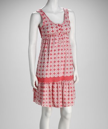 Pink Circle Empire-Waist Dress