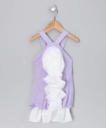 Lavender Rose Bubble Dress - Toddler