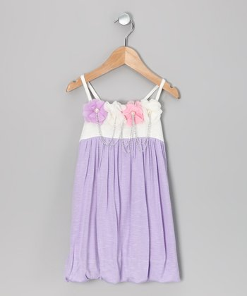 Lavender Flower Chain Dress - Toddler