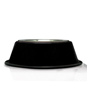 Black Stainless Steel Dog Bowl