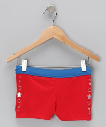 Red Olympic Shorts