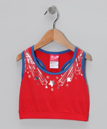 Red Olympic Sports Bra - Girls