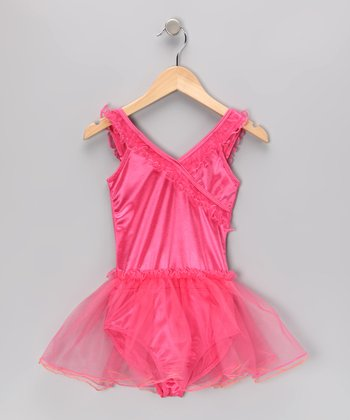 Hot Pink Fantasy Skirted Leotard - Toddler & Girls