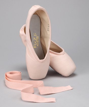 European Pink Canvas Pointe Shoe