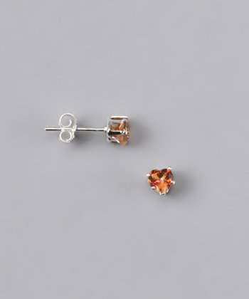Twilight Topaz Heart Stud Earrings - Girls