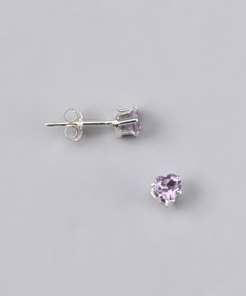 Pink Topaz Round Stud Earrings - Women