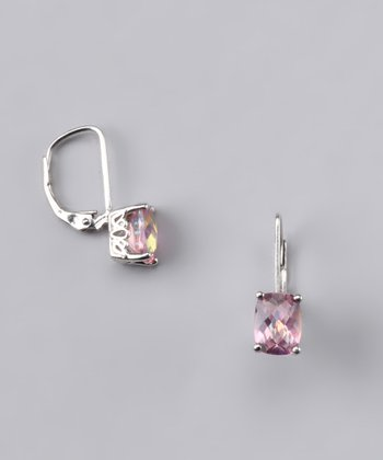 Mystic Pink Topaz Earrings - Women