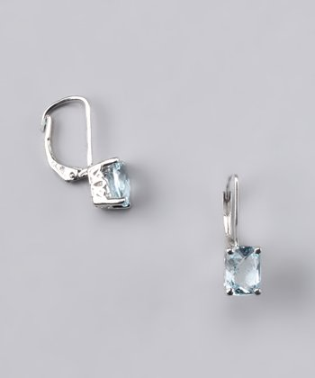 Sky Blue Topaz Earrings - Women