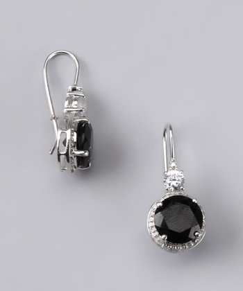 Onyx Round Earrings - Women