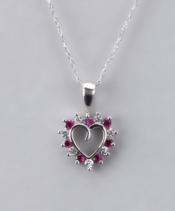 Ruby Heart Necklace - Women