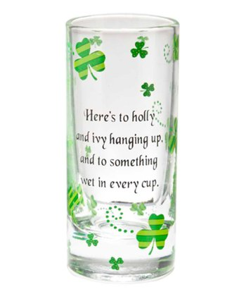 Ganz 'Holly & Ivy' St. Pat's Shot Glass