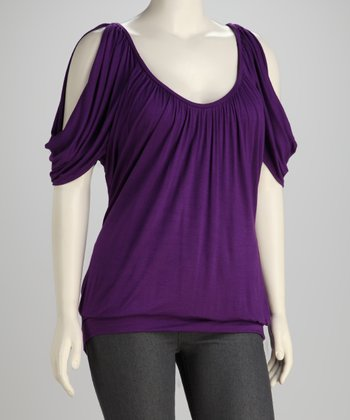 Purple Cutout Top - Plus