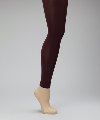 Plum Footless Compression Tights