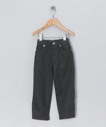 Black Straight-Leg Pants - Toddler