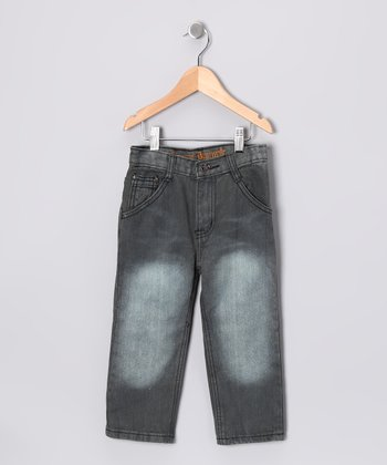 Gray Double Pocket Jeans - Toddler