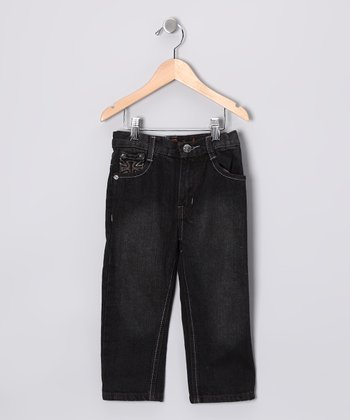 Black Cross Pocket Jeans - Toddler