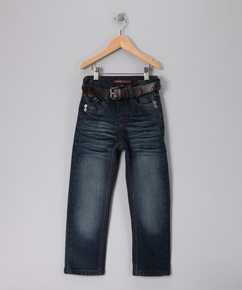 Dark Wash Straight-Leg Jeans  - Toddler