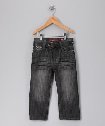Gray Slim Straight-Leg Jeans - Toddler