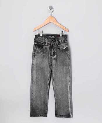 Charcoal Gray Straight-Leg Jeans - Boys