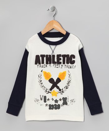 Black & White 'Athletic' Thermal - Toddler