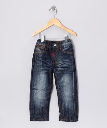 Faded Black Stitch Pocket Jeans - Toddler