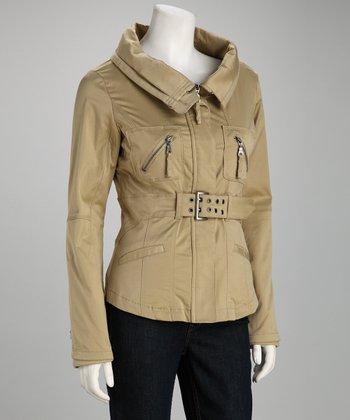 Khaki Belted Coat