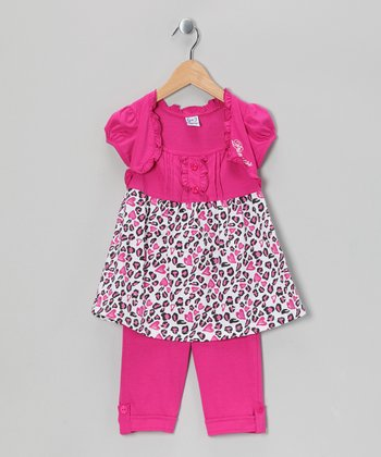 Raspberry Cheetah Tunic & Capri Leggings - Infant, Toddler & Girls