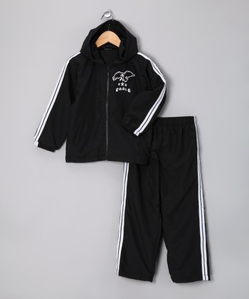 Black Microfiber Hoodie & Sweatpants - Infant, Toddler & Boys
