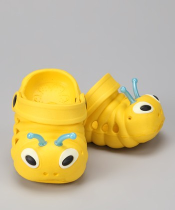 Yellow & White Critter Clog