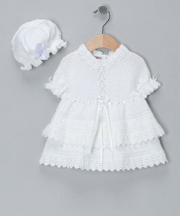 White Limited Edition Dress & Hat - Infant & Toddler