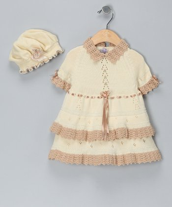 Vanilla & Sand Limited Edition Dress & Hat - Infant & Toddler