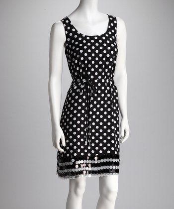 Black & Ivory Polka Dot Dress