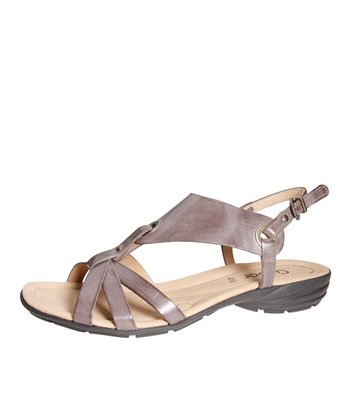 Gray Triple-Strap Sandal