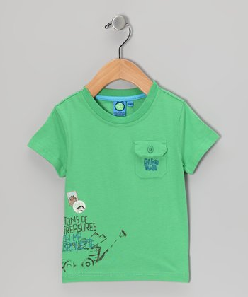 Vibrant Green 'Treasures' Tee - Infant