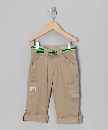 Tan Straight-Leg Pants - Infant