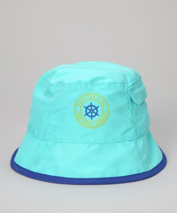 Turquoise 'Pirates & Co.' Reversible Sunhat - Toddler