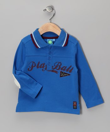 Blue 'Play Ball' Polo - Infant