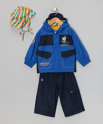 Victoria Blue Raincoat Set - Infant & Toddler