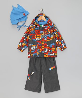 Castle Rock Letter Raincoat Set - Infant & Toddler