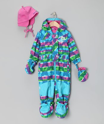 Blue Atoll Splash Suit & Beanie - Infant