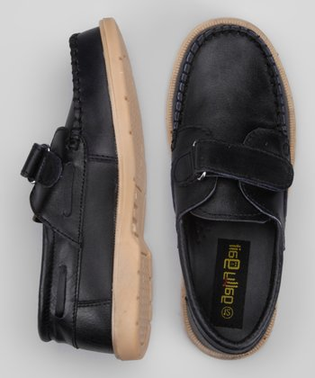 Black Stitched Loafer