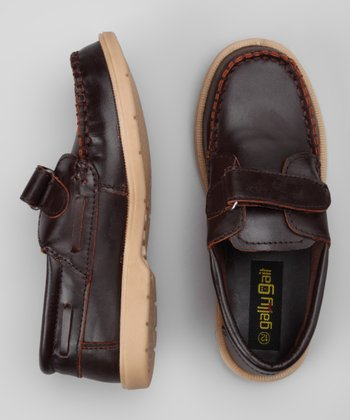 Brown Stitched Loafer