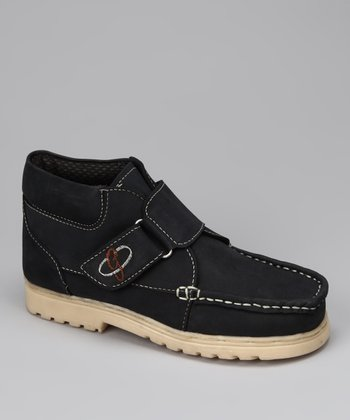 Navy Suede Boot