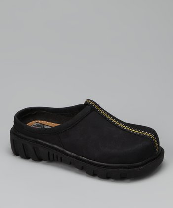 Black Suede Slide