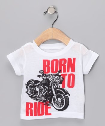 White 'Born to Ride' Tee - Infant, Toddler & Boys