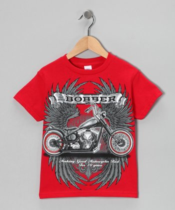 Red 'Bobber' Tee - Toddler & Boys